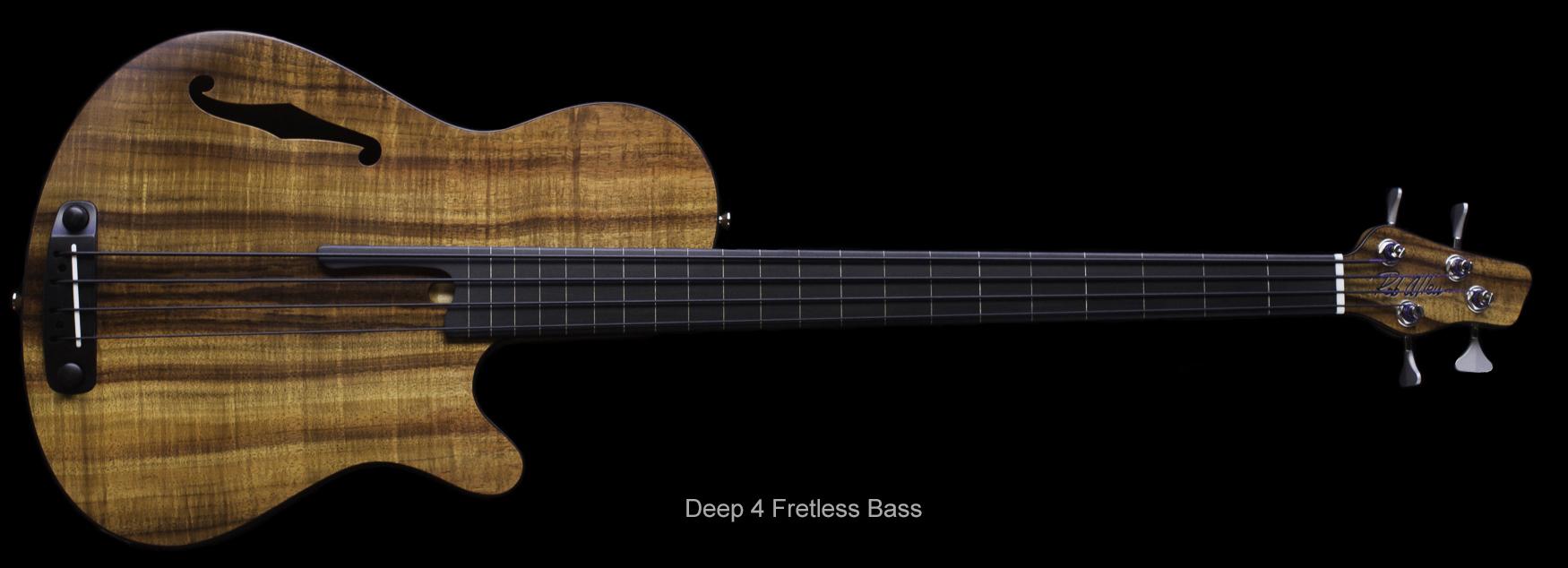 rob allen deep 4 koa bass fretless