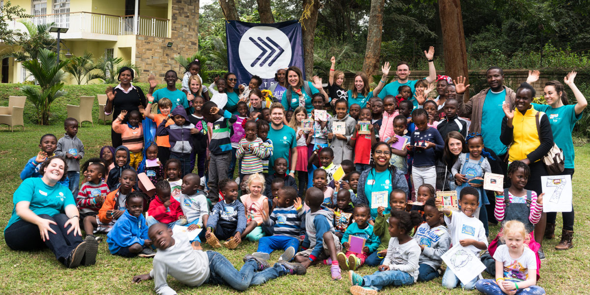 The August 2018 team from Trinity Church with Kids Camp participants