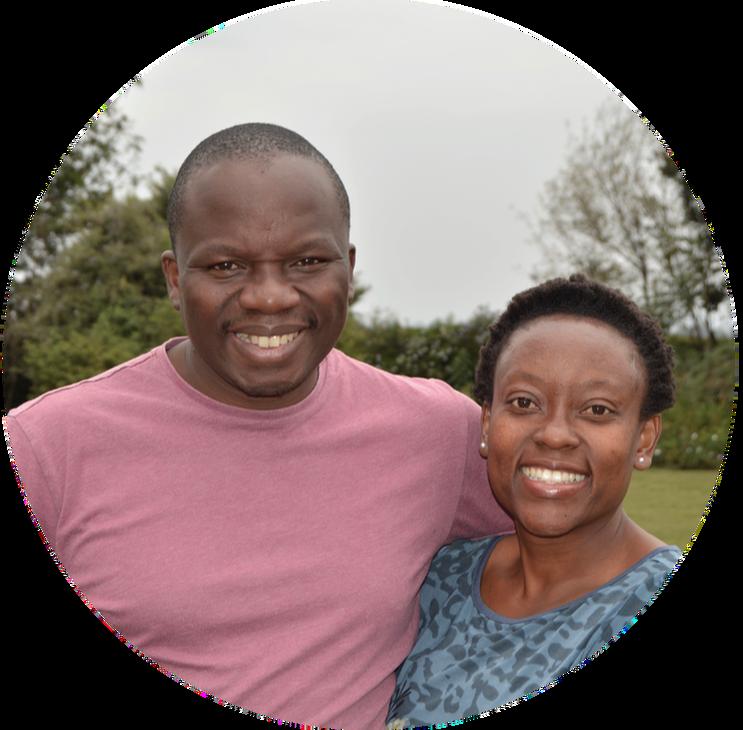 "Mbonisi ""Bones"" and Tash Malaba of OneTribe Church in Nairobi"