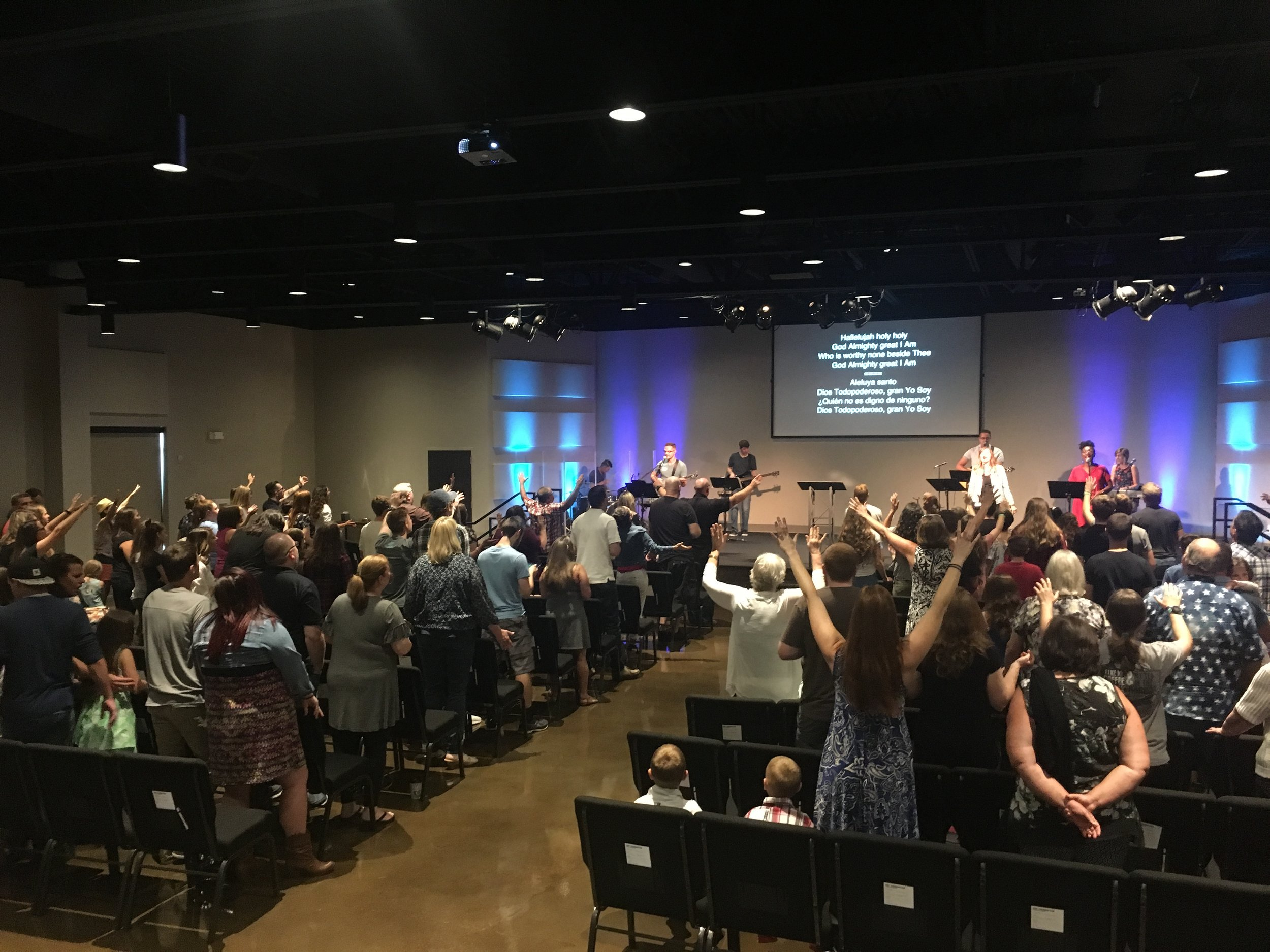 Lifehouse Church, gathered for worship on a Sunday morning
