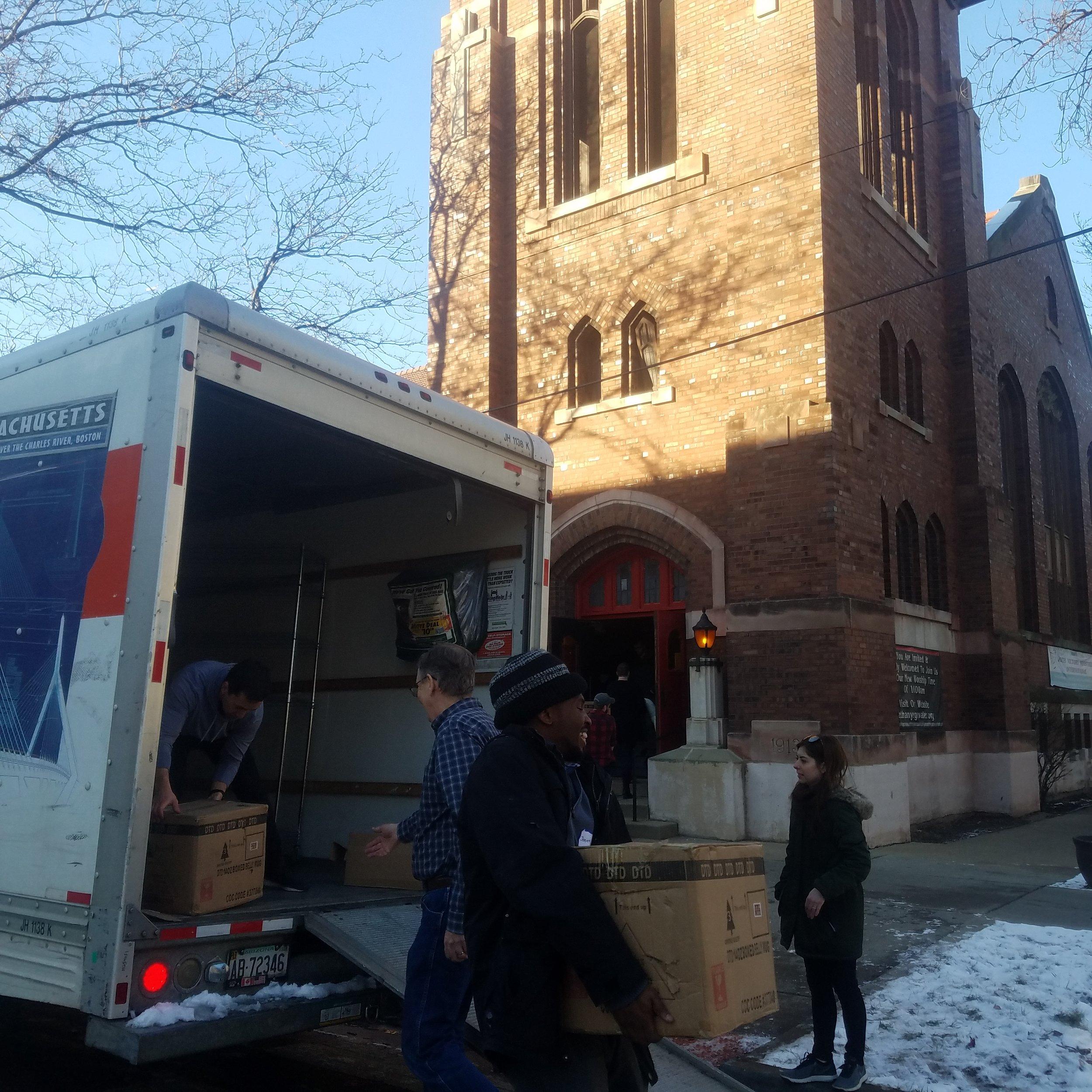 Moving Day at Trinity Church