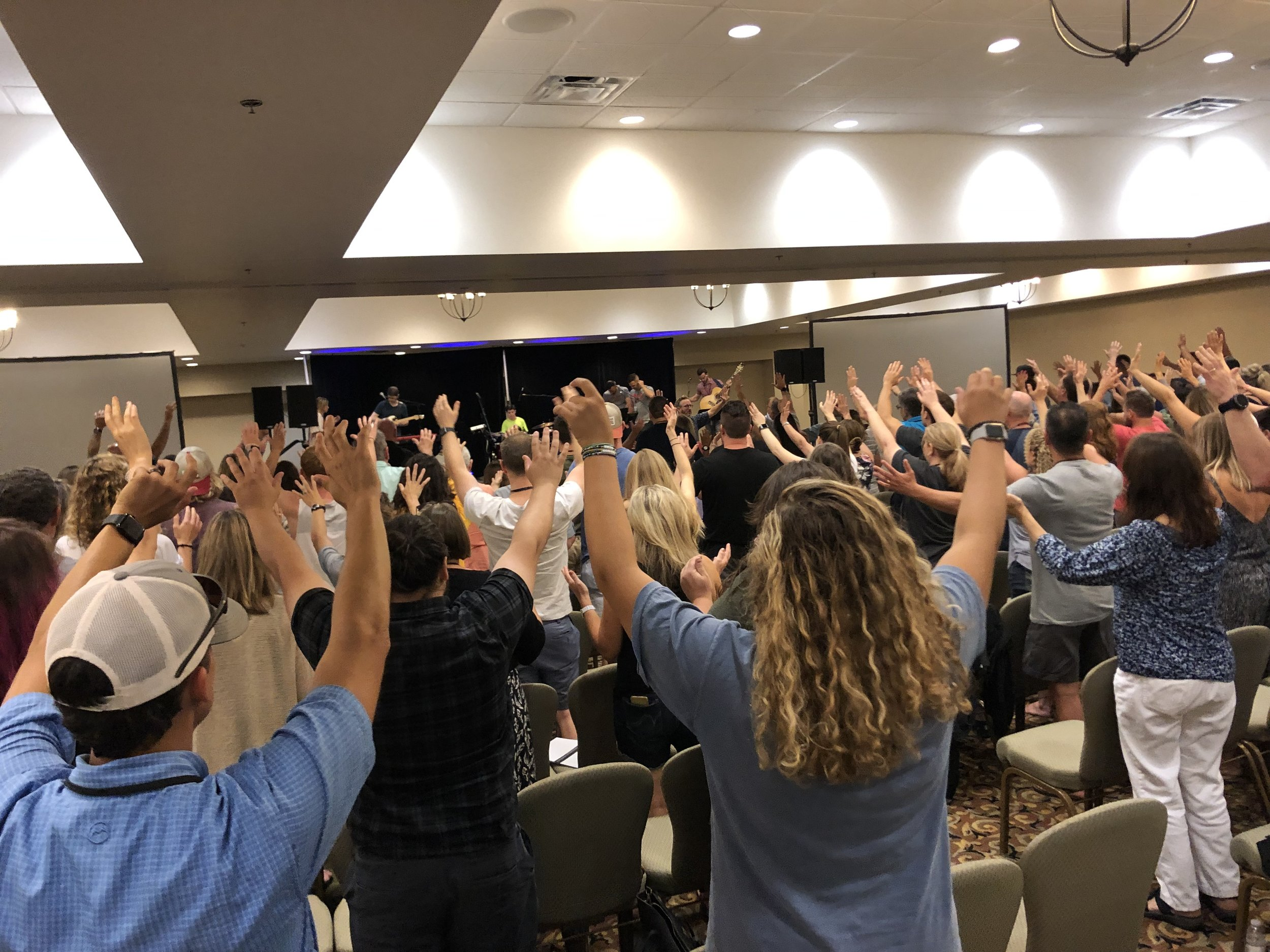 Worshipping together at Celebration Southeast