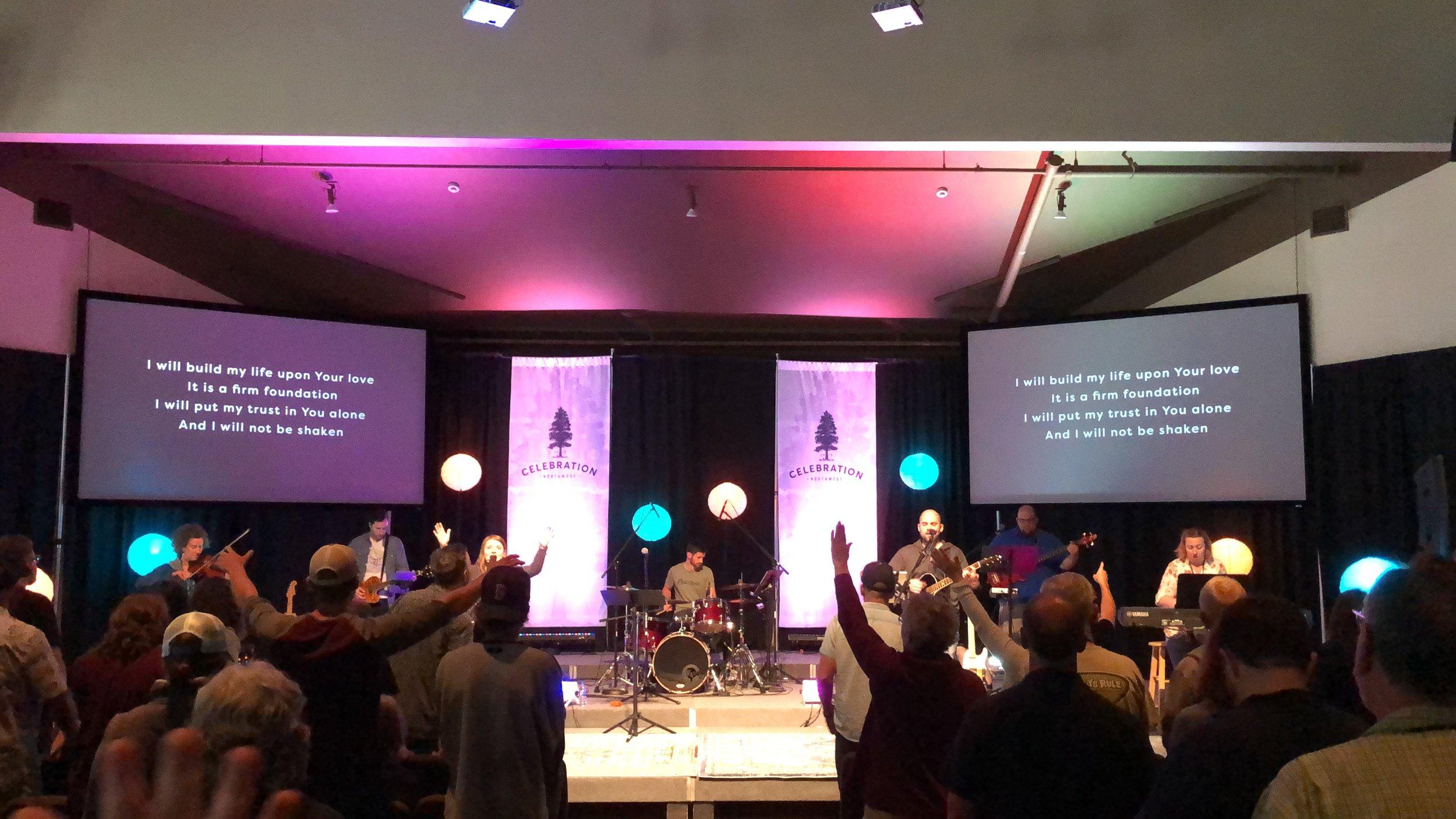 Worshipping at Celebration Northwest