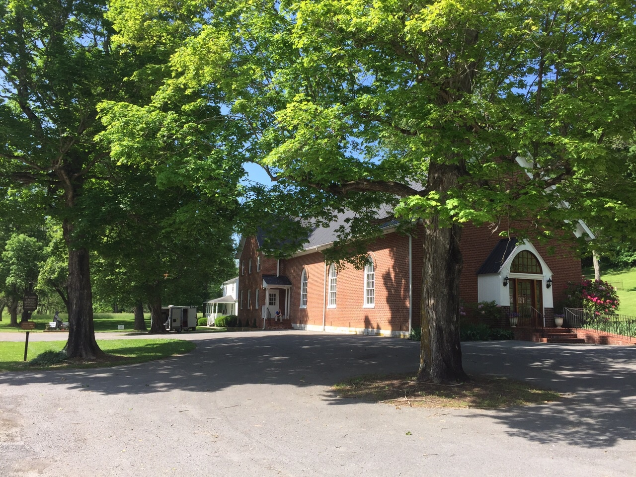 I think it is a lovely and generous service that the Church Community provides the bikers. Thus far we have stayed in four churches and three of them have been Methodist. It is very peaceful green a tree pocked valley. I could have gone another ten or twenty miles easily, but it was nice to have such a short ride after the bike troubles and the rest day.