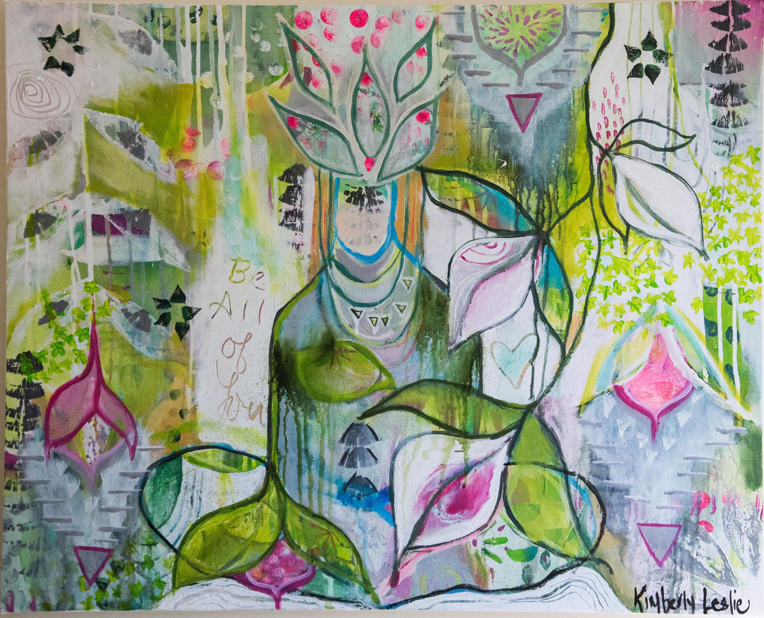 """ Stillness ""  acrylic on canvas  24"" x 30"""