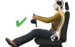 """Sitting """"tall"""" can maintain optimal spinal posture"""