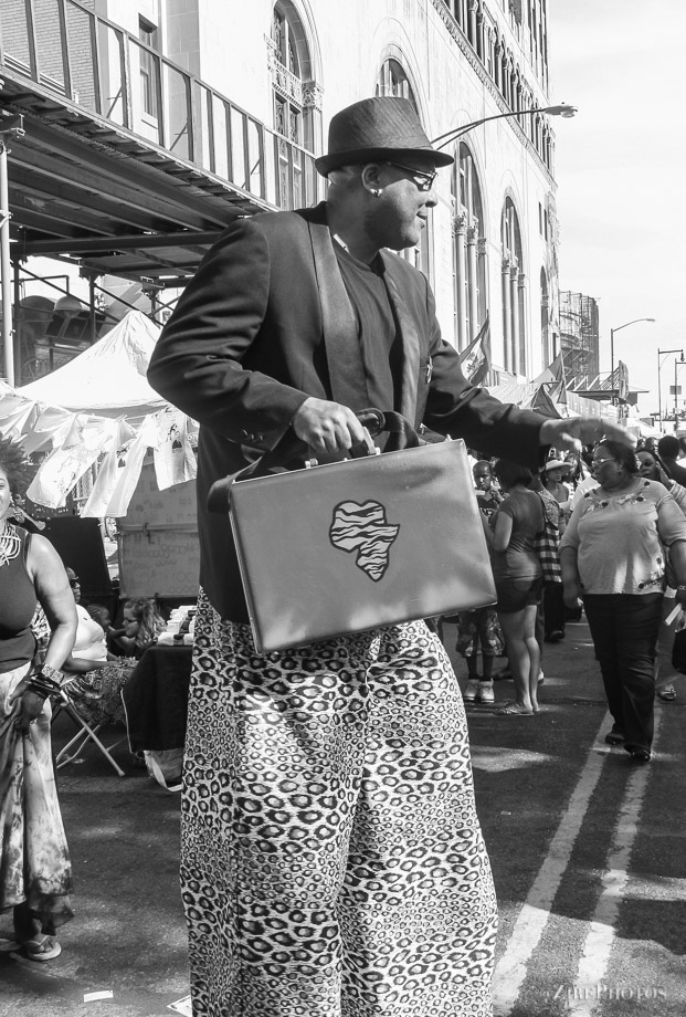 Man on stills at BAM Street Festival