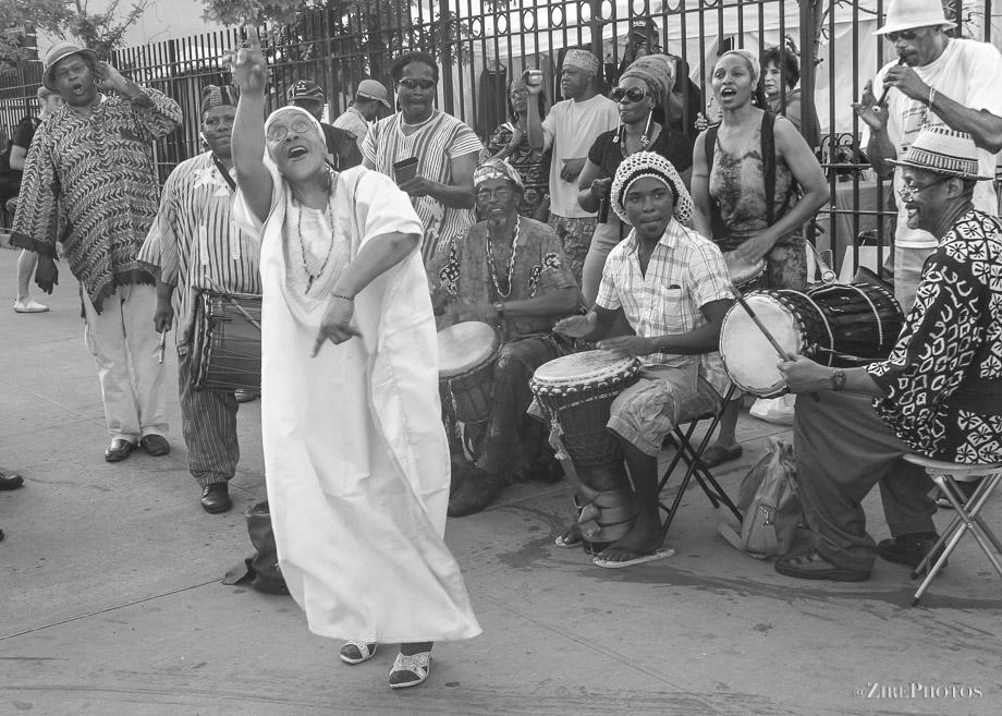 Street performance at BAM
