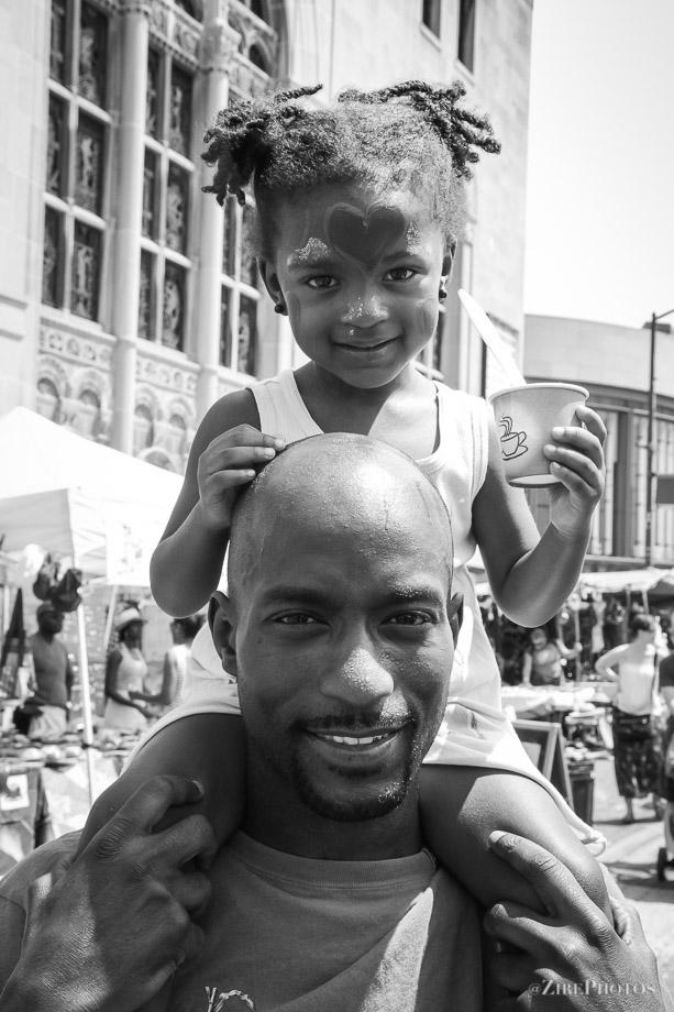 A Proud Poppa at the BAM street fair festival