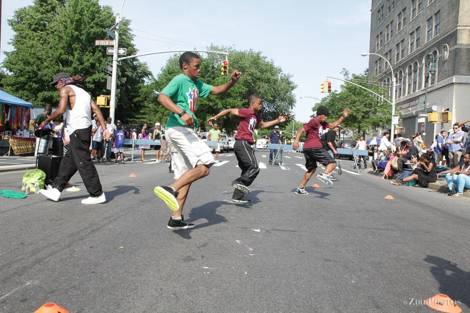 Breakdance performance at the BAM Street Fair Festival