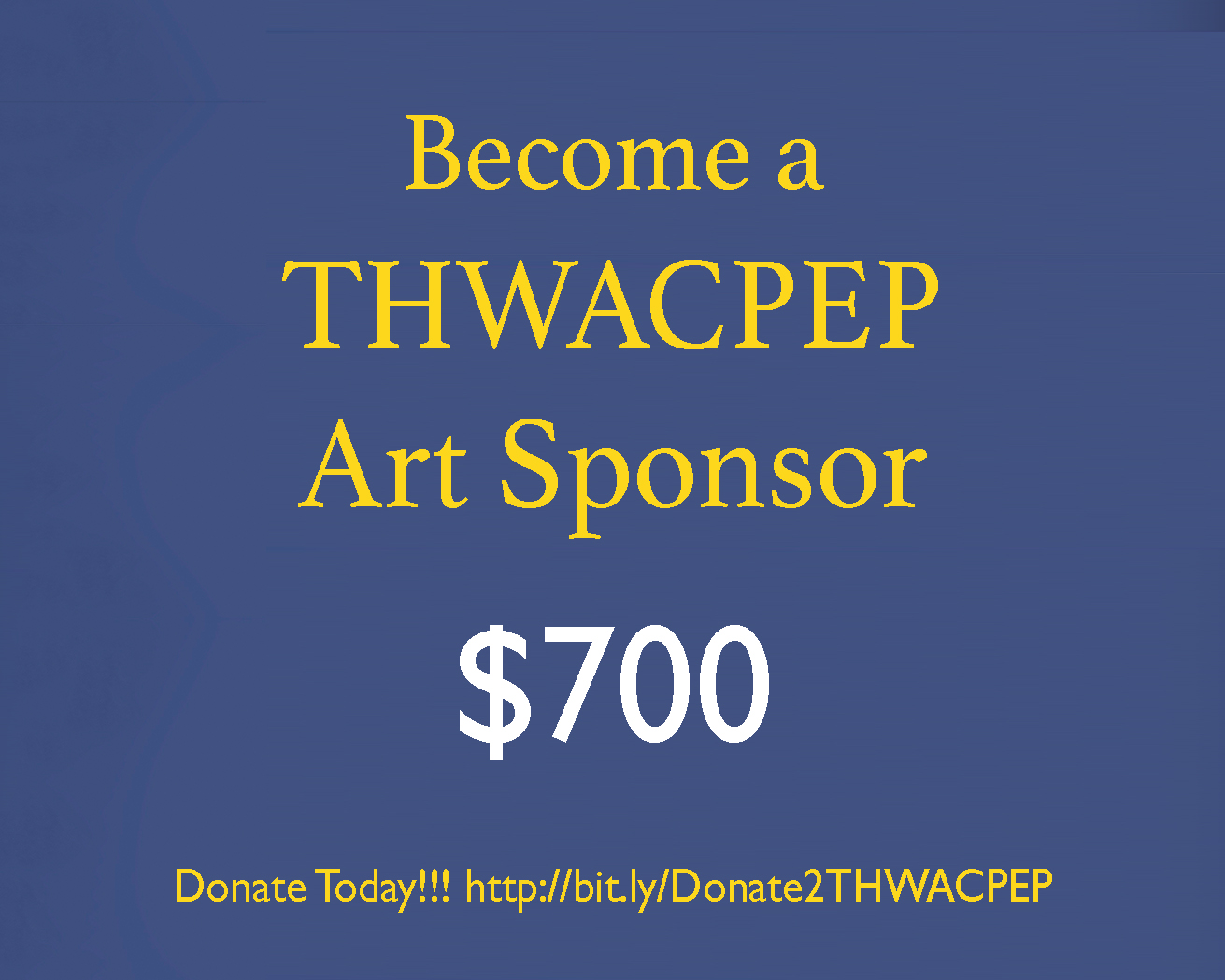 In return for a $700+ donation or more, you can receive one (1) 18x18 canvas wall art prints of theatrical portraits of cultural performers and participants from the THWACPEP project. Or you can have a cultural performing artist featured in the THWACPEP project. -
