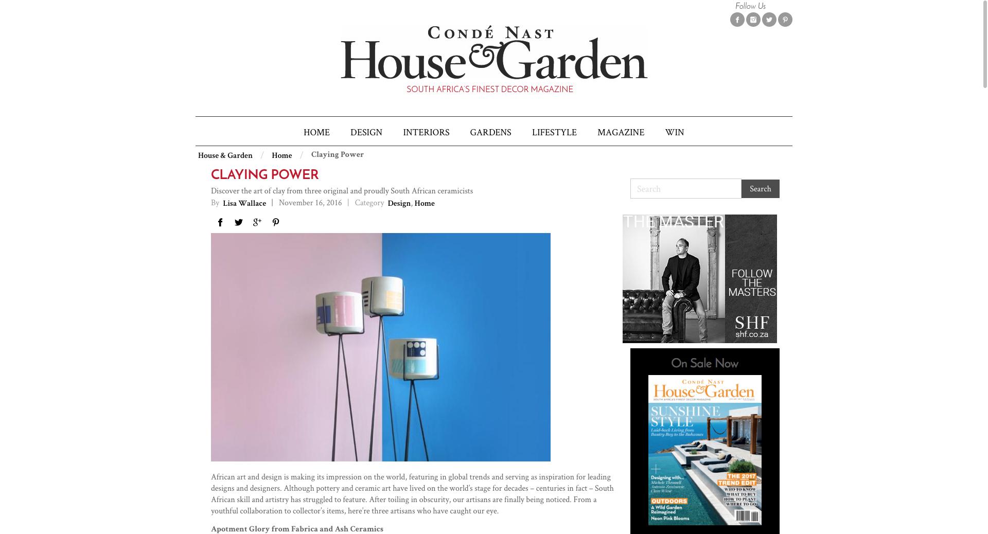 CONDE NASTE HOUSE & GARDEN