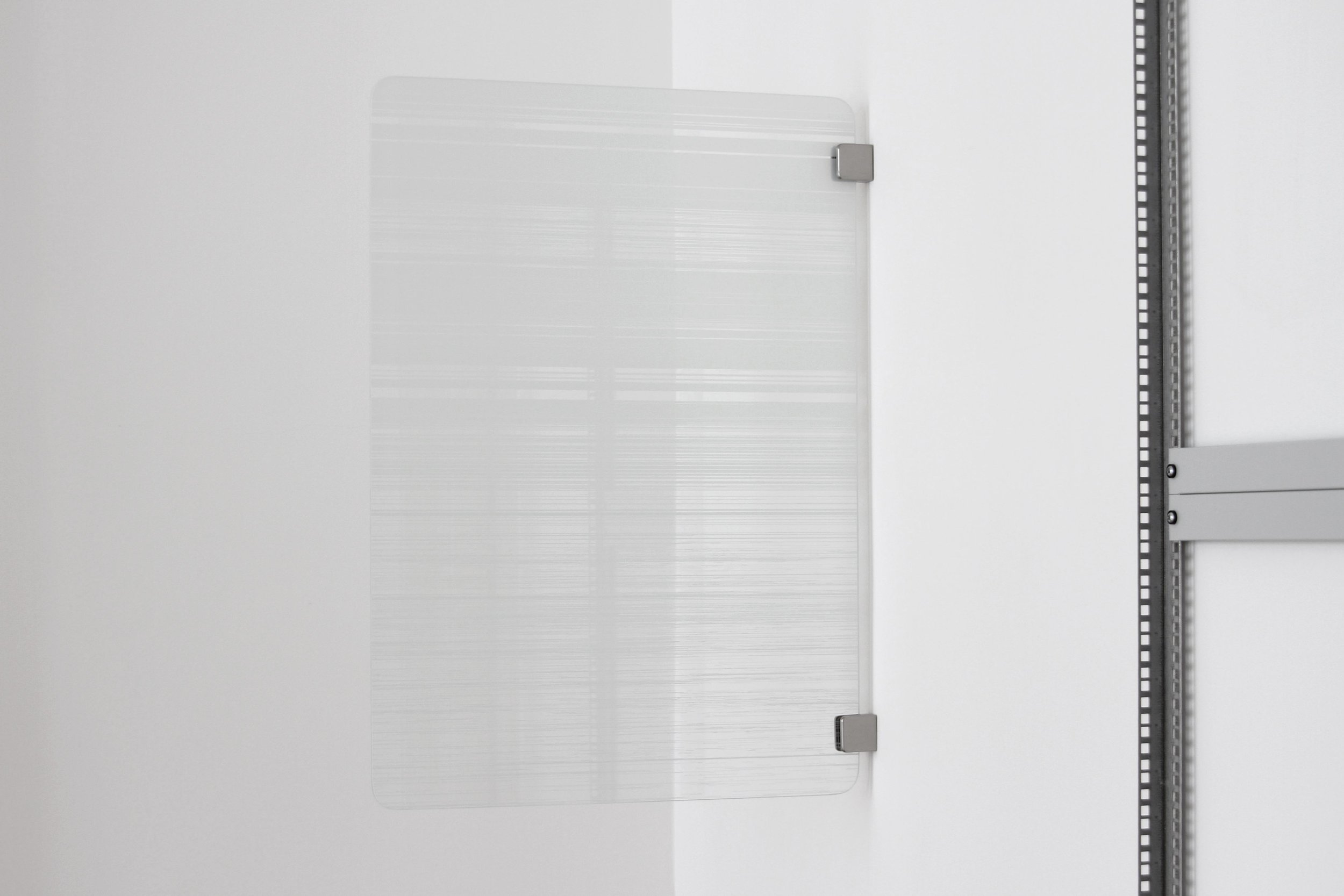 Julian Palacz, Fragmentierung Variation 2, 2017, UV-print on float glass 85 x 60 cm, 1 + 1AP