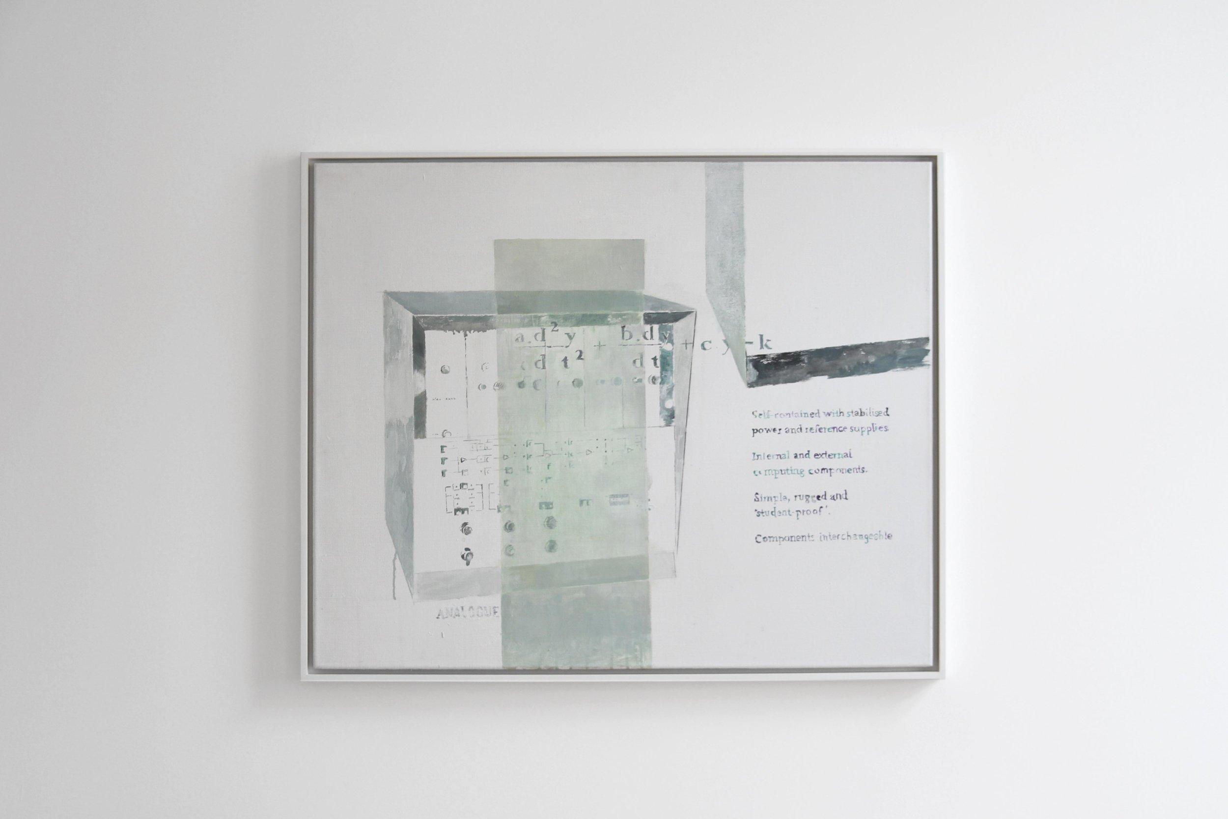Agnes Fuchs, ANALOGUE TUTOR TY 963/02, 2013, Acrylic on canvas, 90 x 75 cm