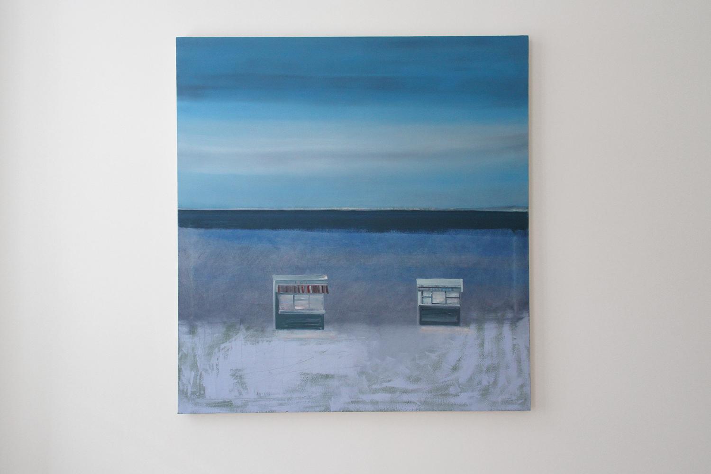 Michael Fanta One Way Fare, 2017, oil on cotton, 130 x 120 cm