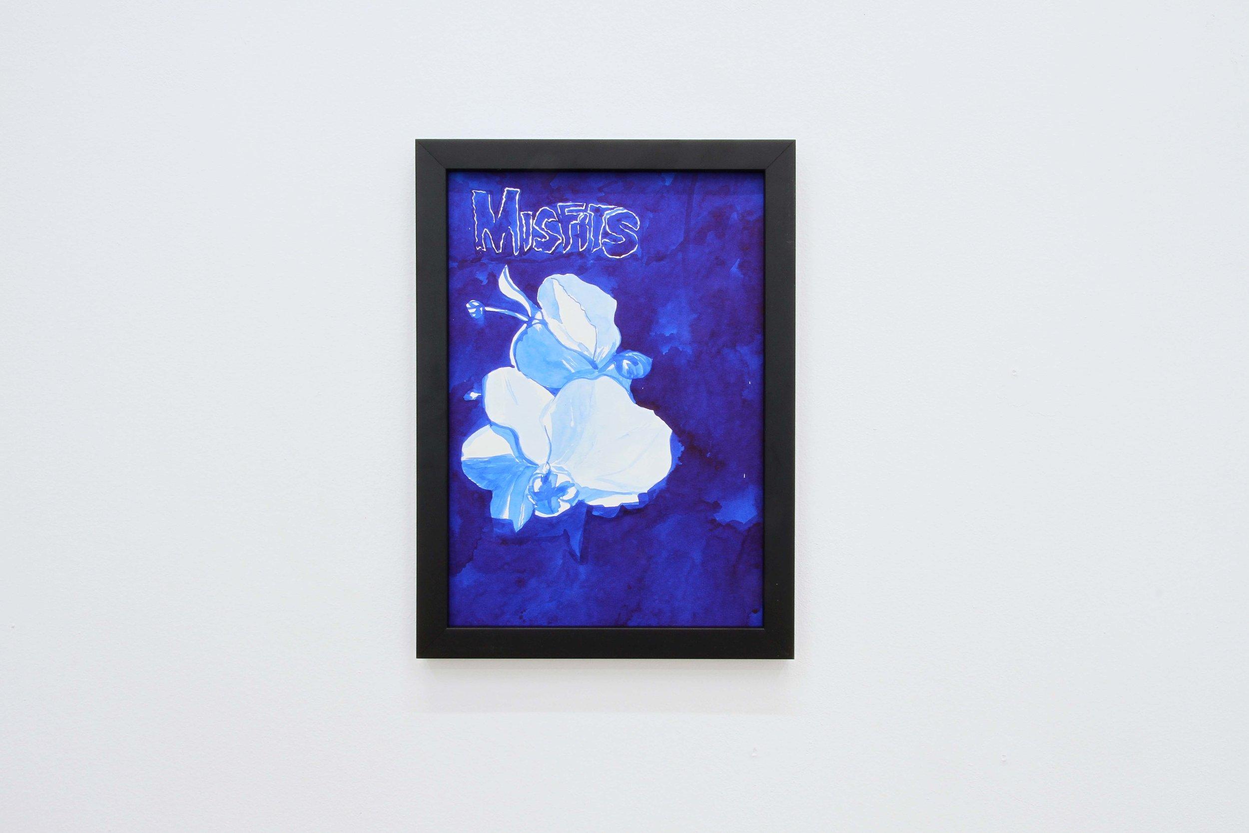 Ohne Titel (Misfits), 2018 Ink on paper 29.7 x 21 cm