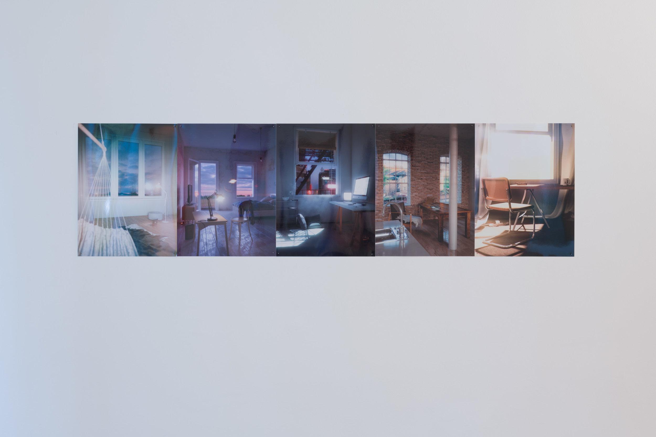Malte Zander, Ohne Titel (Sublets 1 - 5), 2019