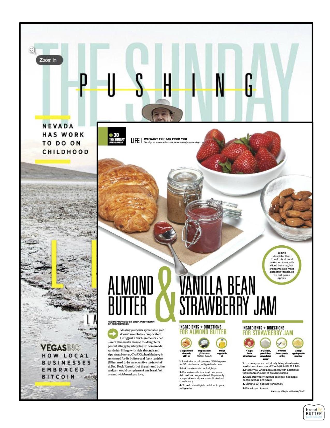 Almond Butter & Vanilla Bean Strawberry Jam