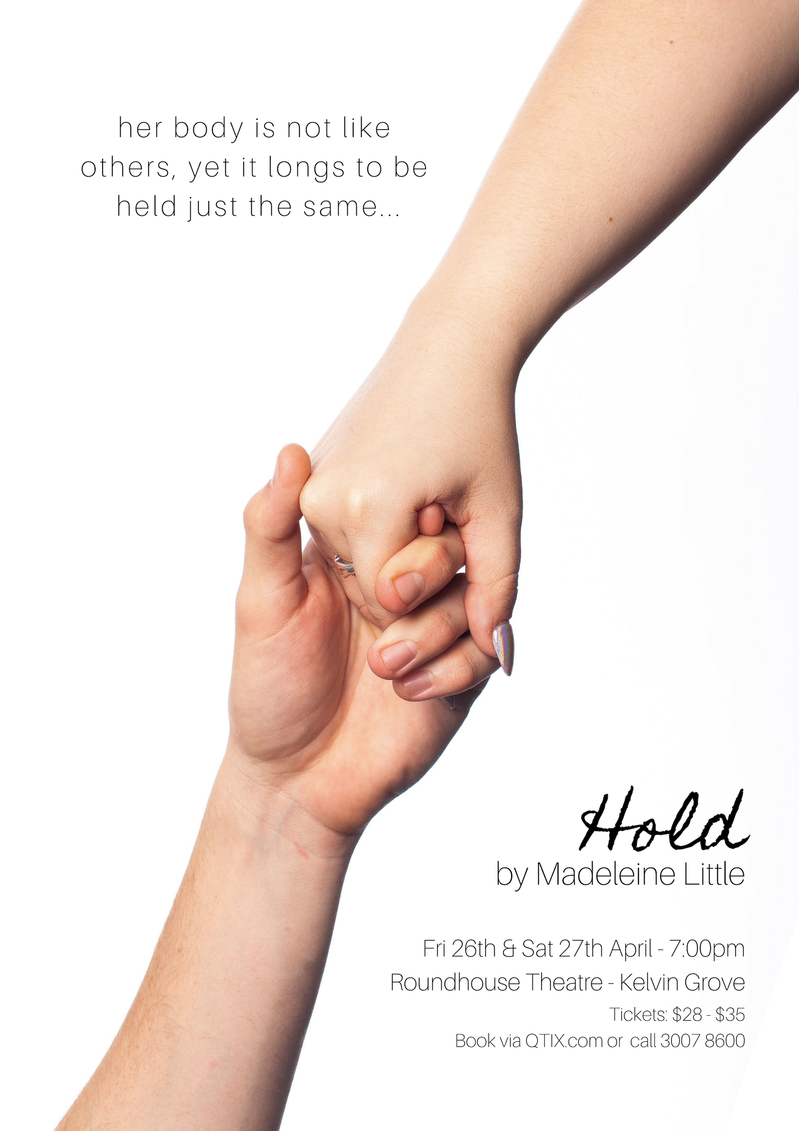 Click the poster image to find out more about my new show,  Hold .