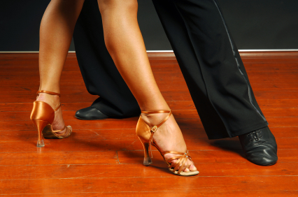 Mens and ladies salsa shoes