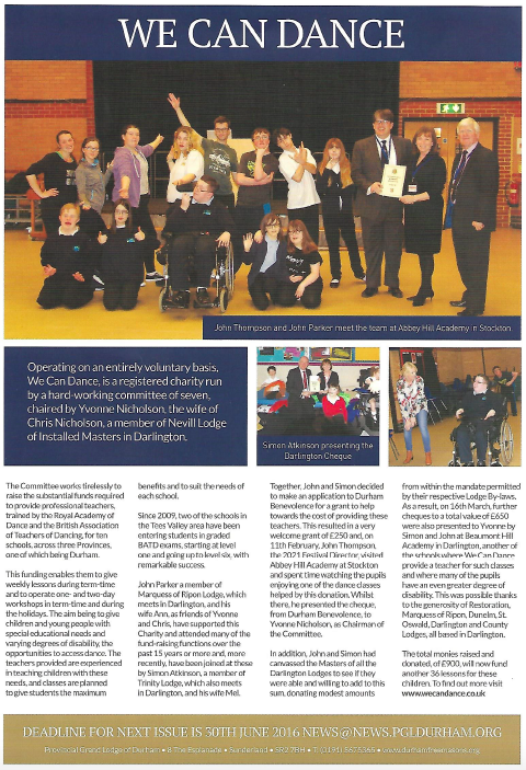 This article about We Can Dance featured in the Gazette