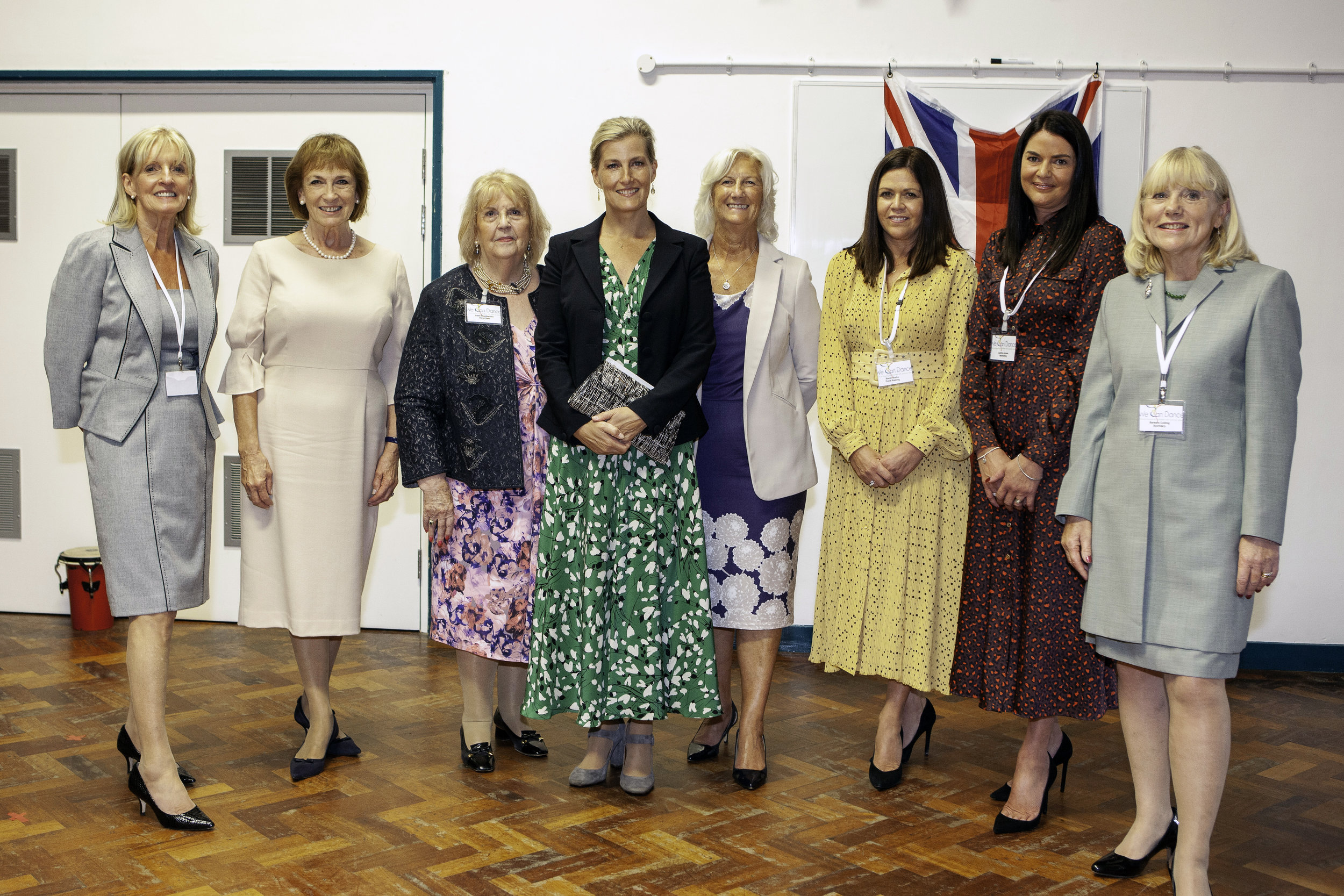 Some of our Trustees and Committee Members with HRH The Countess of Wessex during her recent visit to see We Can Dance in action at the Forest School, Knaresborough, North Yorkshire.