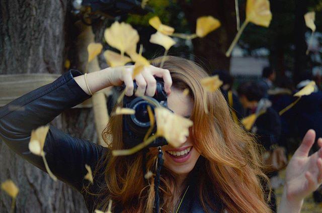 Who wants a ginkgo leaf shoot in Tokyo? 💛 #PhotoMyTokyo