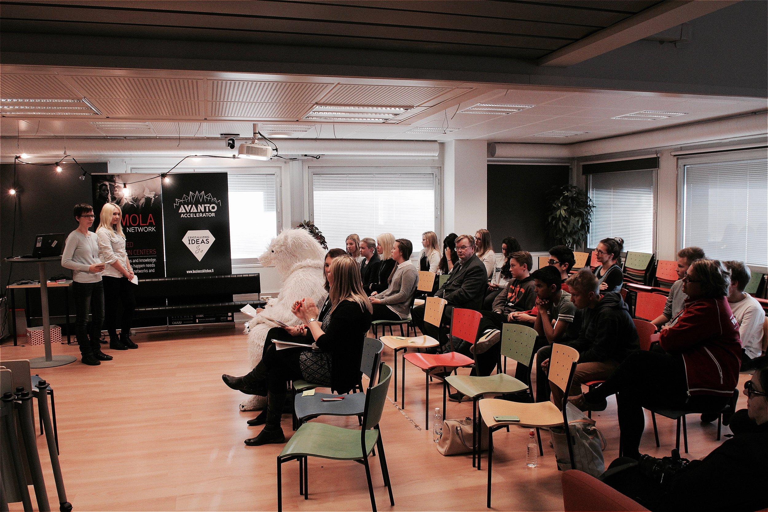 The Jury consisted of a Polar Bear, US Embassy representative and Mia Kemppaala.