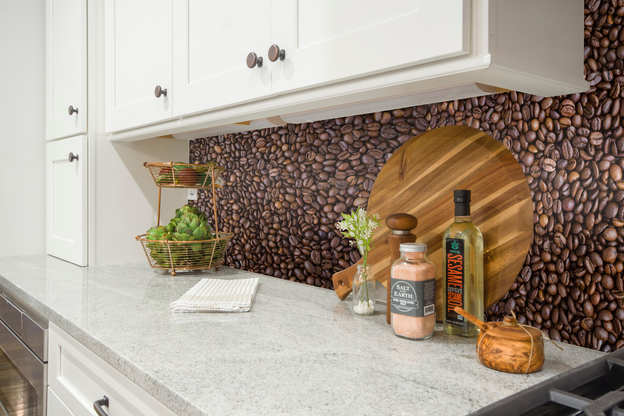Coffee Beans Kitchen Backsplash
