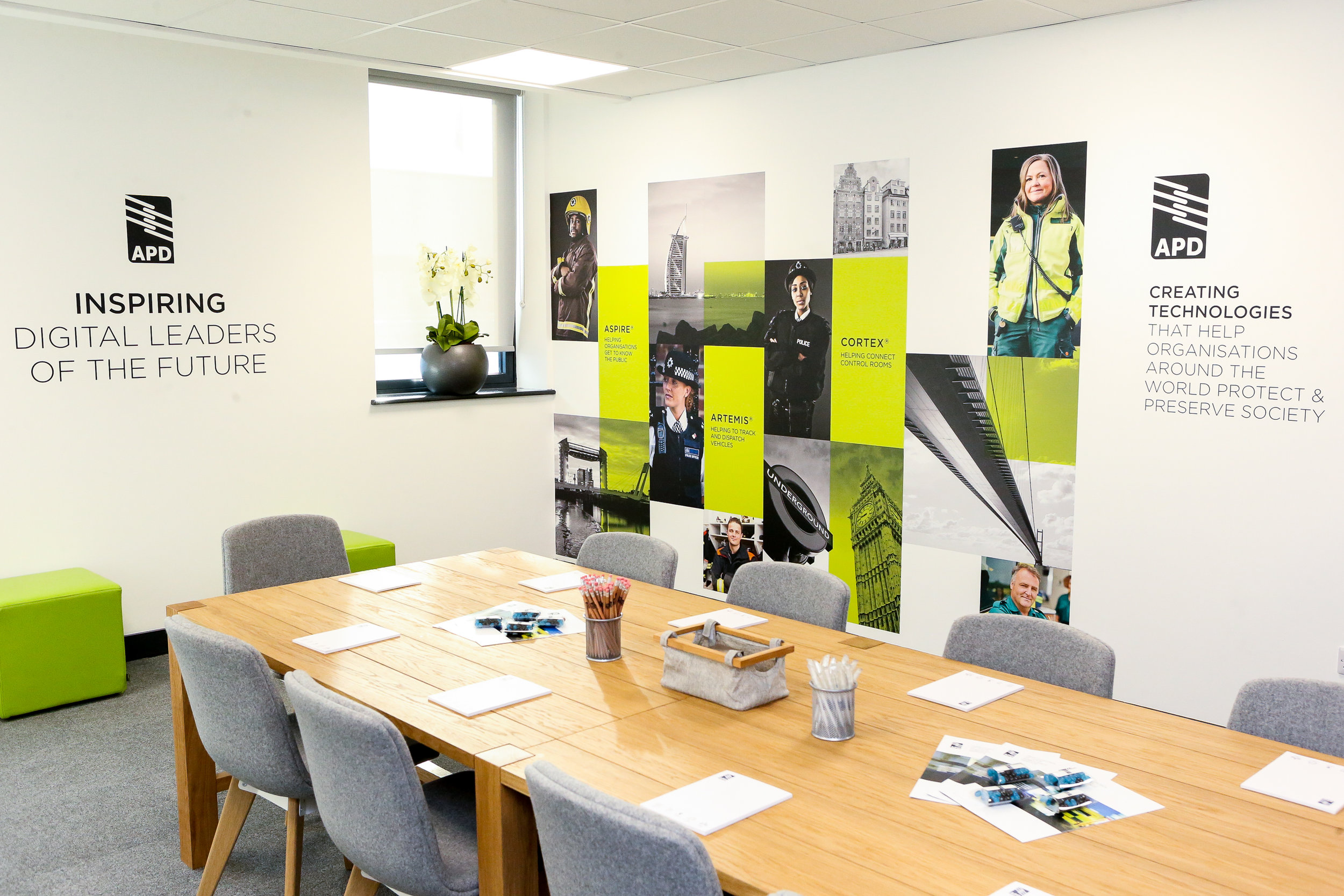 The APD Communications boardroom at ron Dearing UTC in hull
