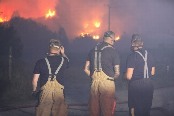 Firefighters are tackling a high number of wildfires due to the hot weather conditions