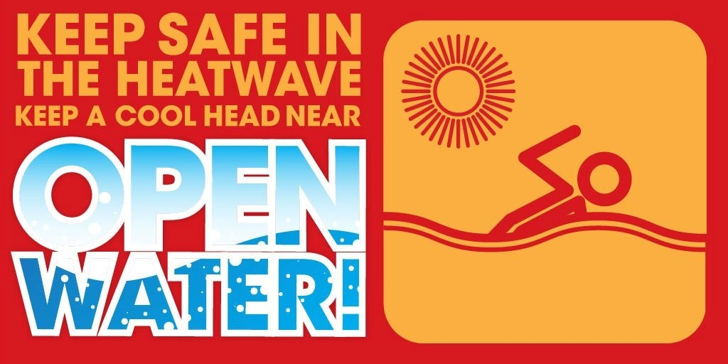 open water campaign to raise awareness of the danger of swimming