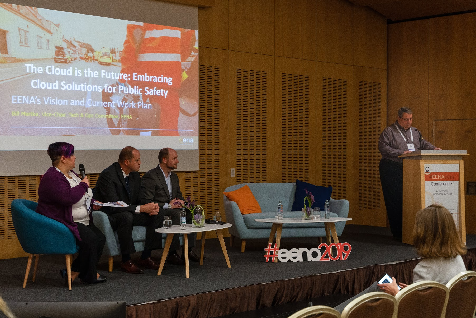Mike isherwood, managing director of apd participates in the cloud services session at eena 2019