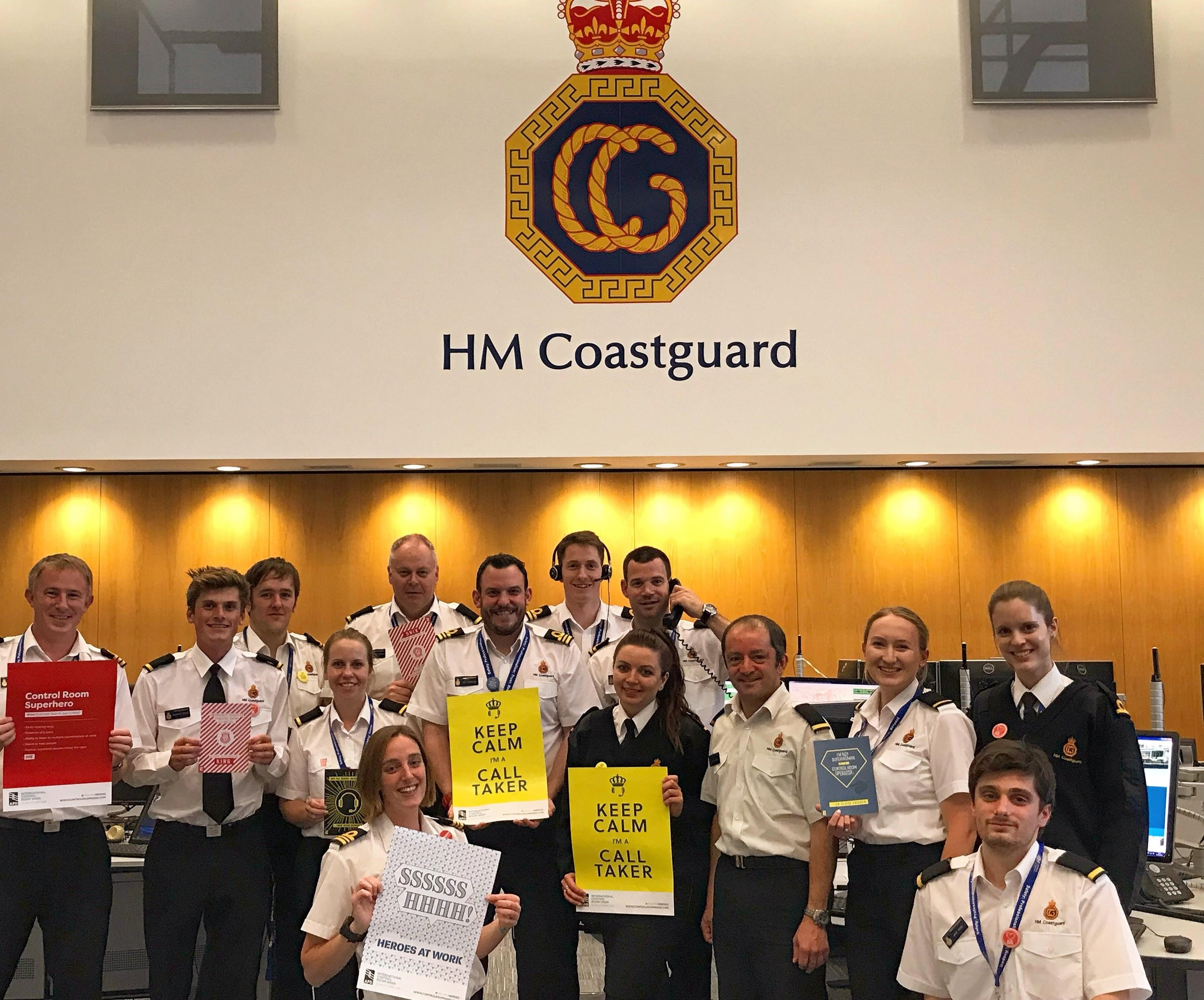 maritime and coastguard agency | national maritime operations centre in fareham celebrating international control room week 2018