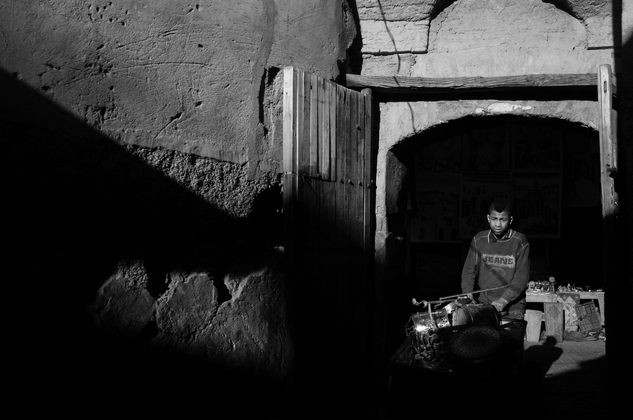 A boy works. Morocco