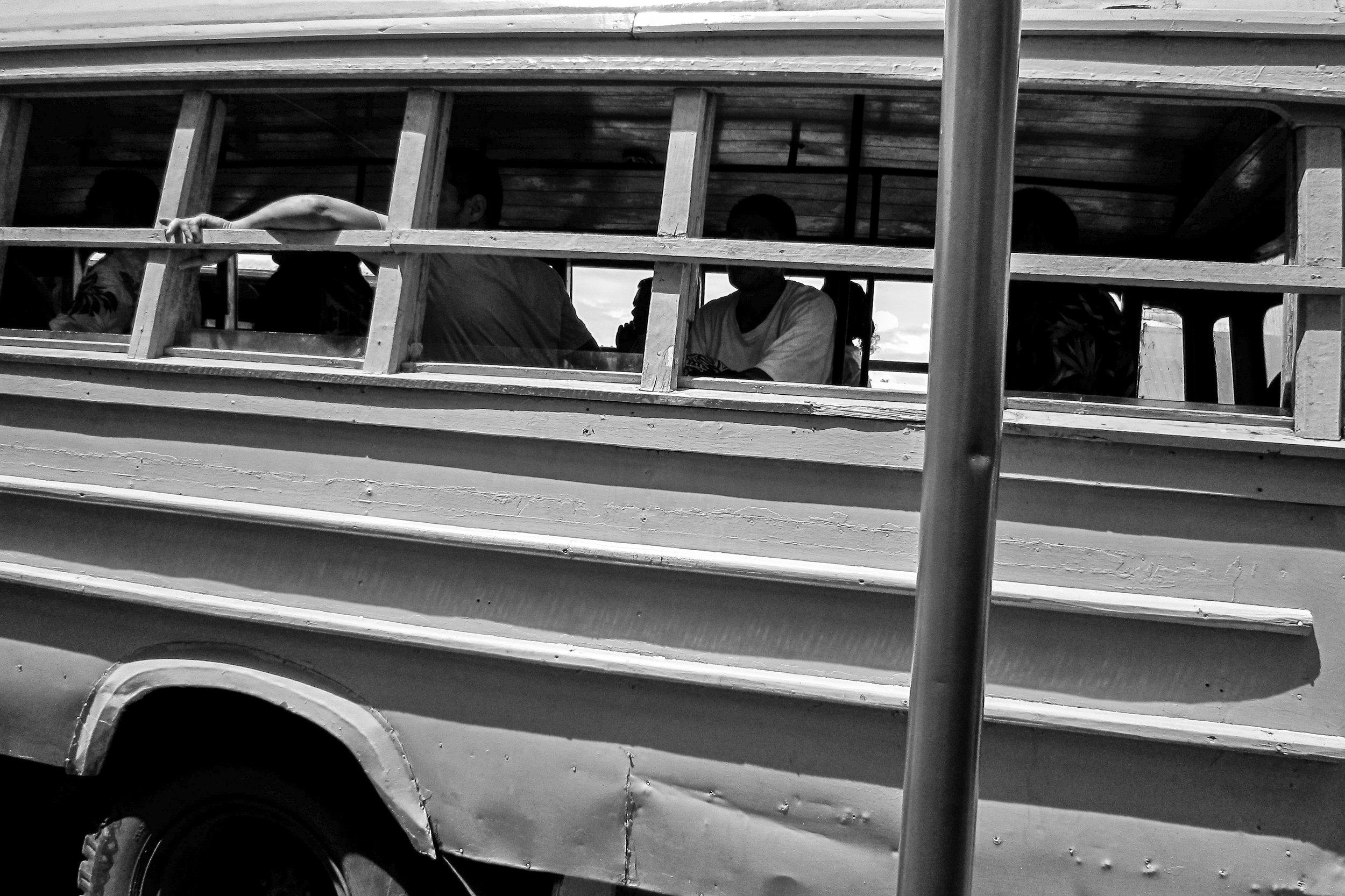 Public bus. Samoa