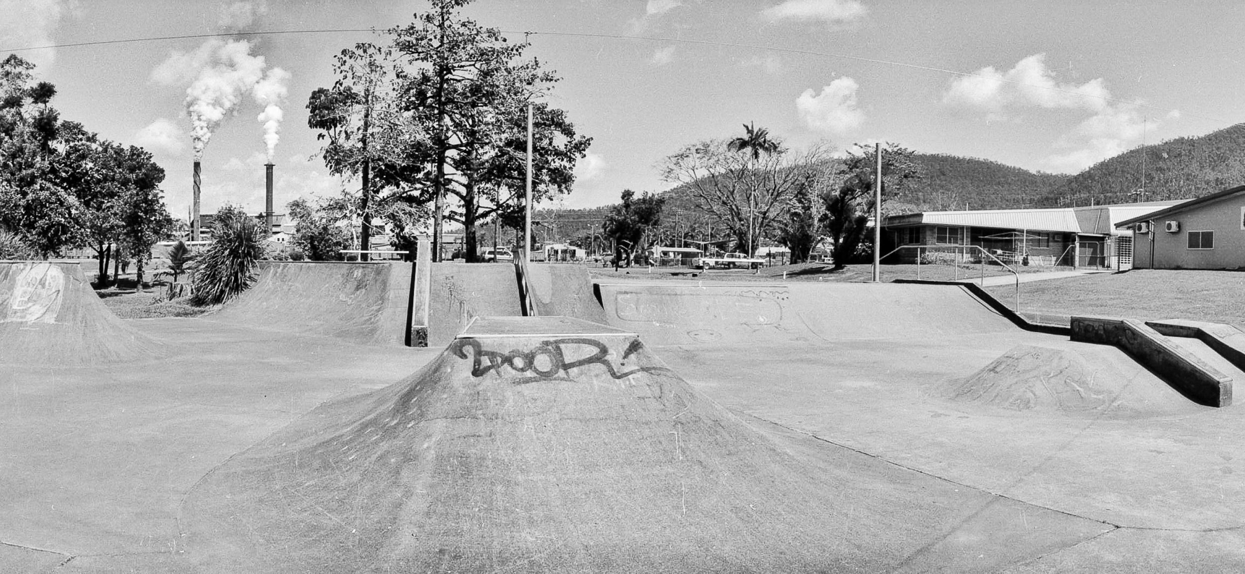 A empty skate park