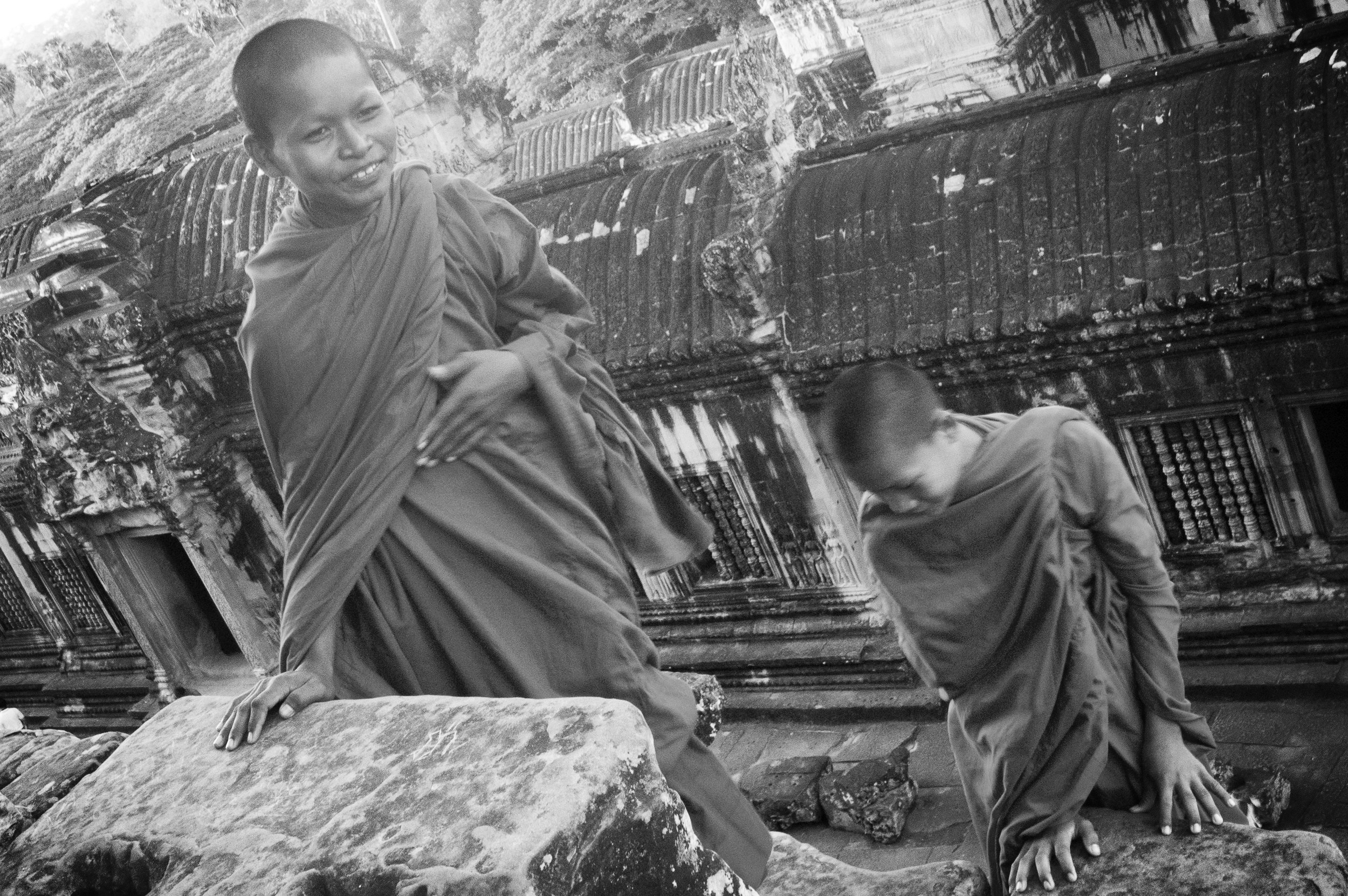 Young monks. Siem Reap, Cambodia