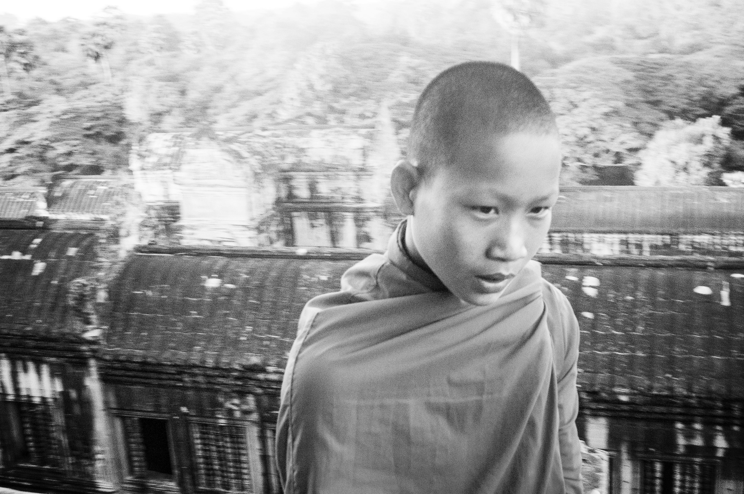 A young monk. Cambodia.