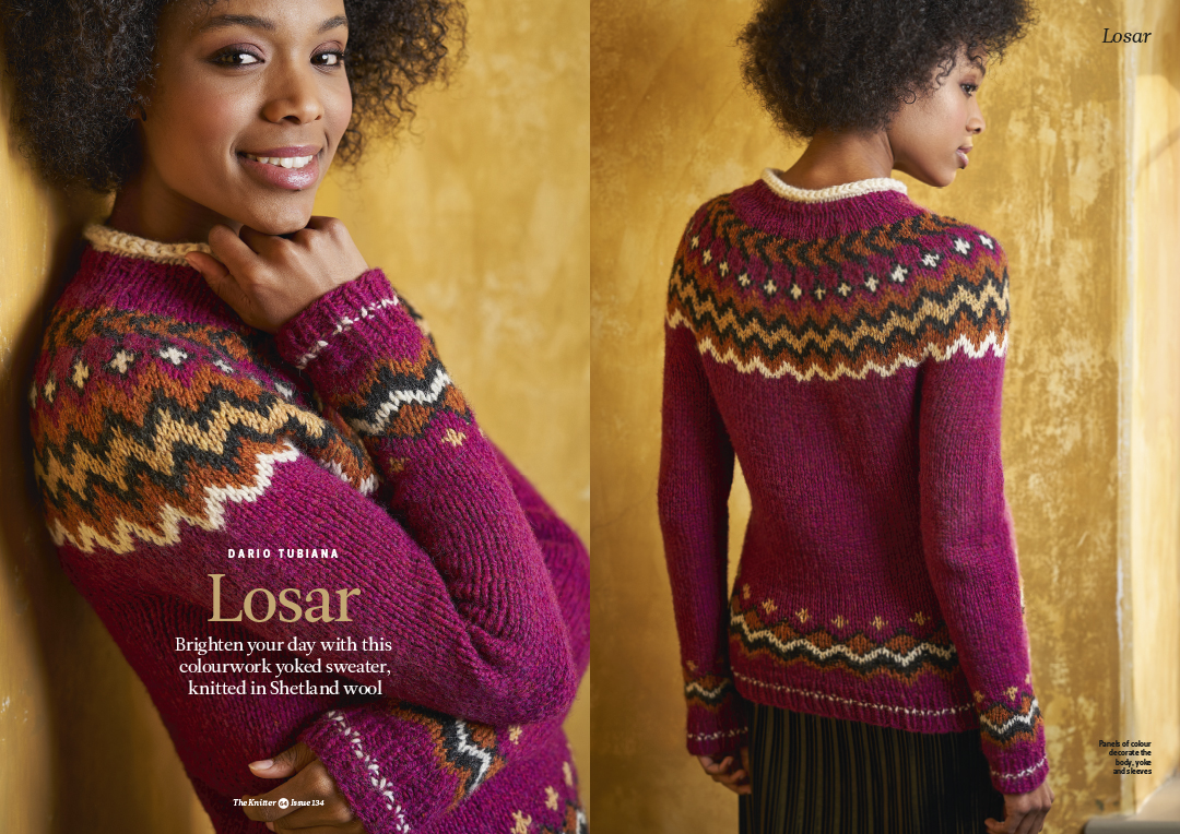 Image from recent Knitting Magazine shoot