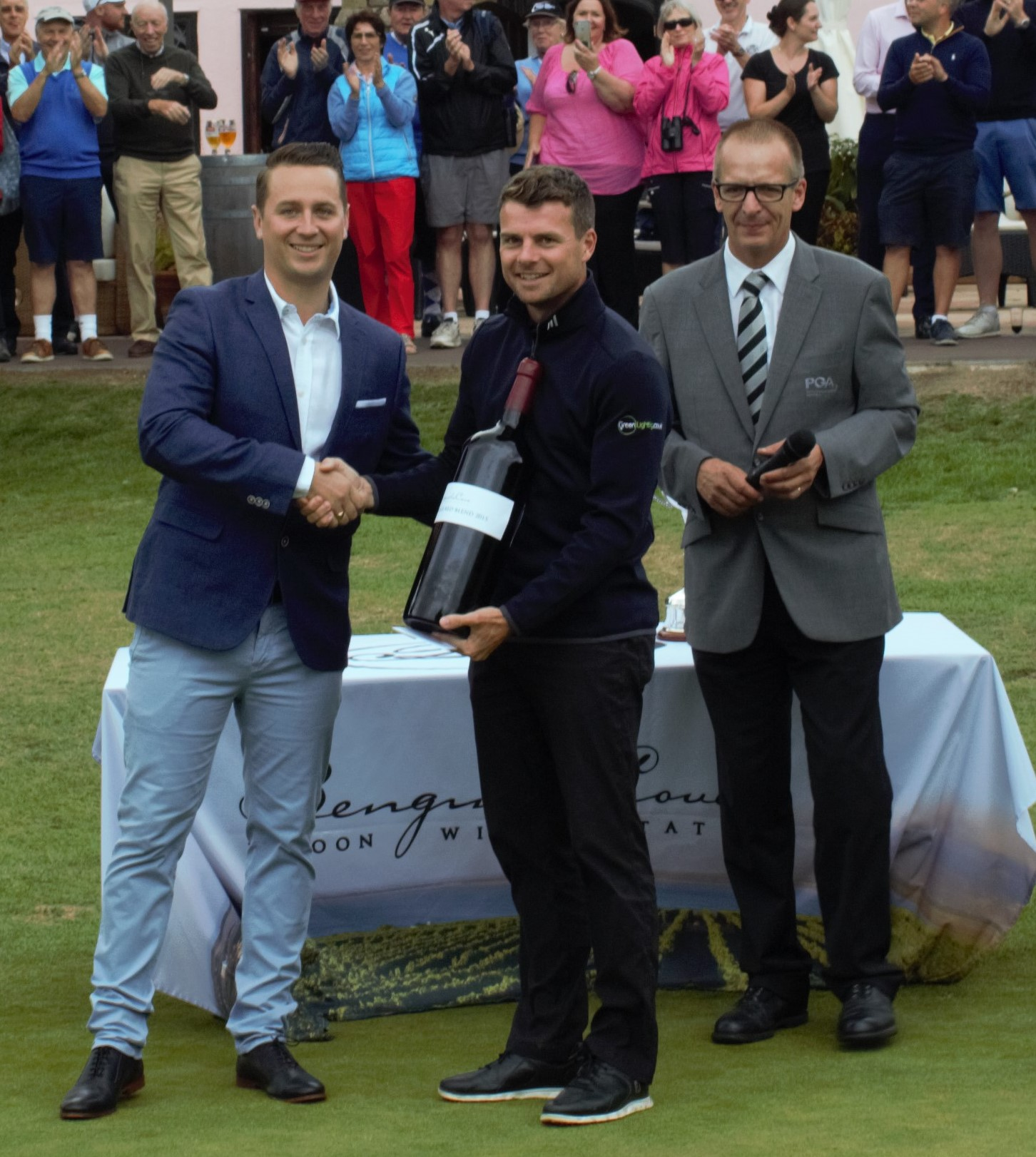 Adam Streeter, Club Operations Diector; Billy Hemstock, tournament winner; and Ash Weller of EuroPro.