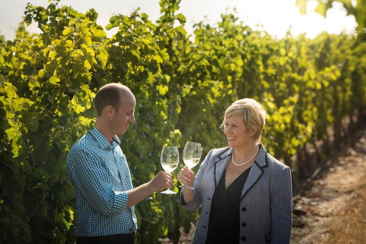 Owner Penny Streeter and Winemaker Johann Fourie
