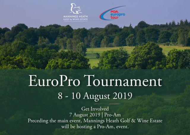 PGA EuroPro Tournament 2019