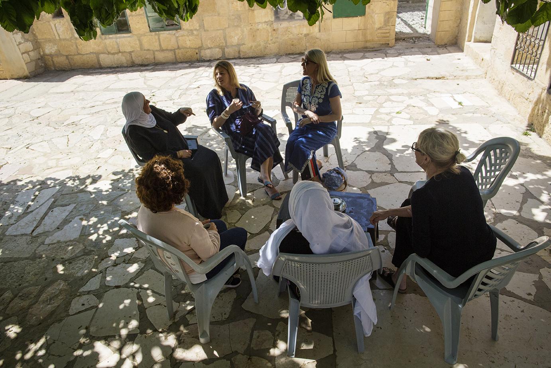 Coffee Break in Sabhas Courtyard
