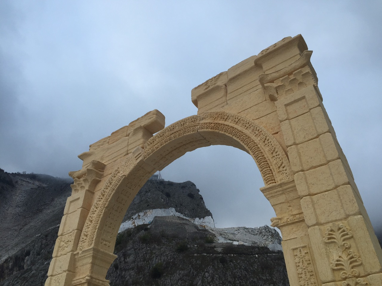 The Finished Arch in Carrara, Italy (TorArt)