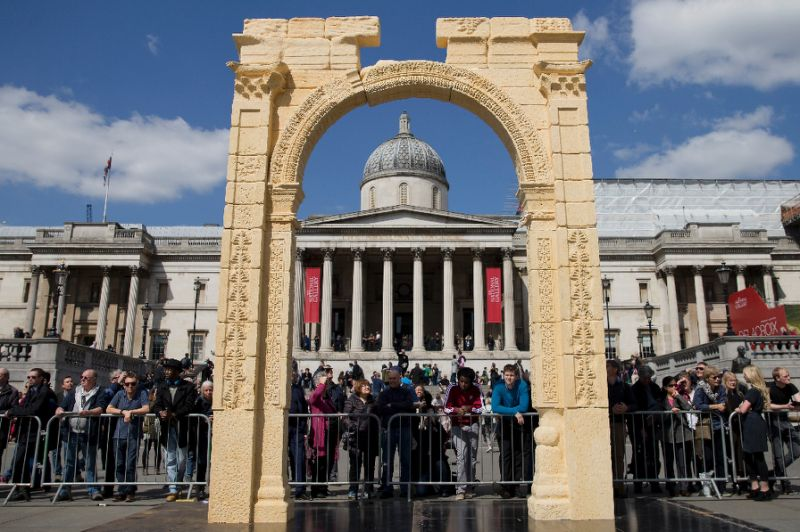 The Triumphal Arch is Unveiled in Trafalgar Square (BBC)