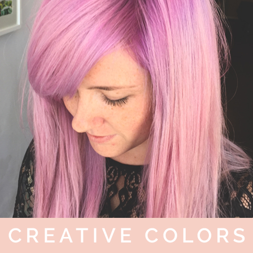 creative hair color fashion colors