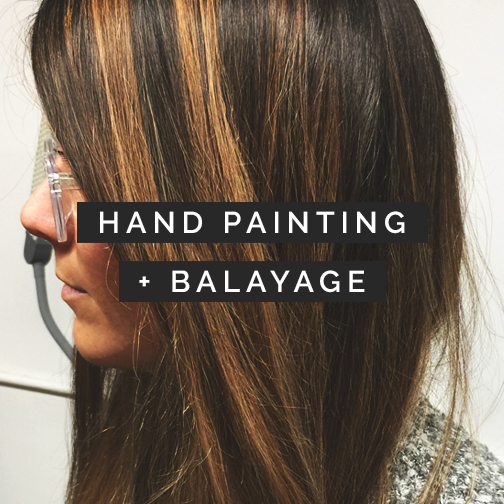 hand painting balayage hair color uptown minneapolis