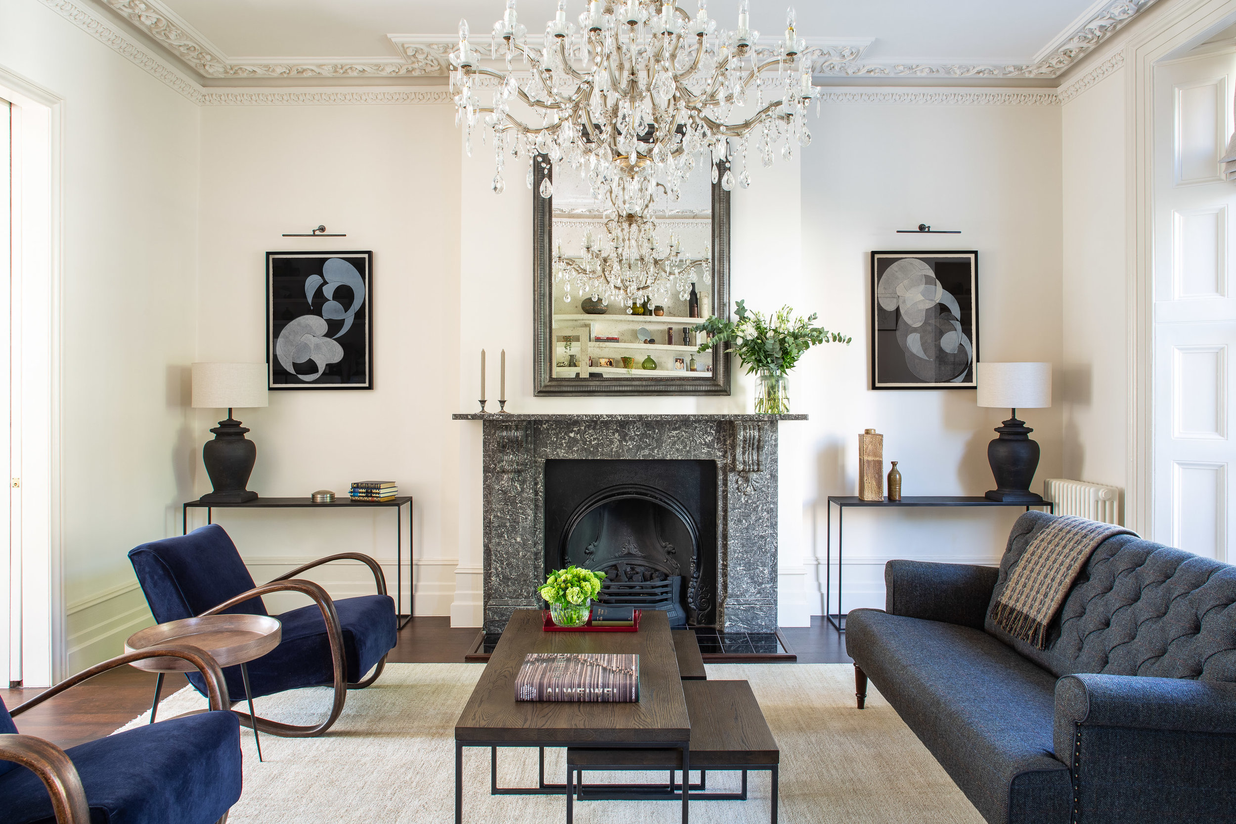 Private Residence | Hampstead   Woodcut and Chine-Collé on Paper      Interior Design: Article Design Studio