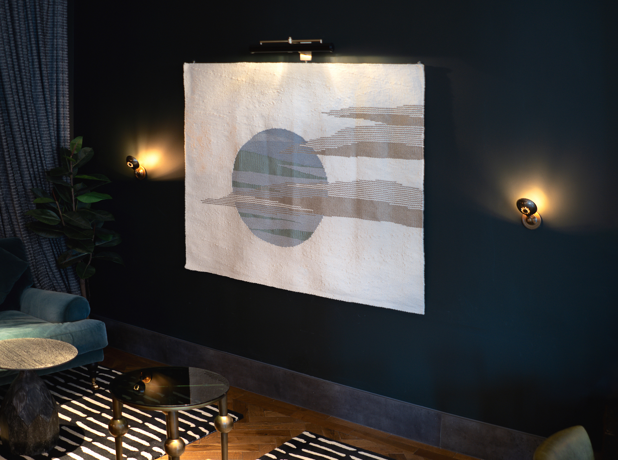 Tivoli Cinema | Bath   Bar Area - Hand Woven Tapestry      Interior Design: Run For The Hills